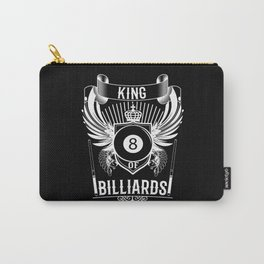 King Of Billiards Black Billiard Ball Carry-All Pouch