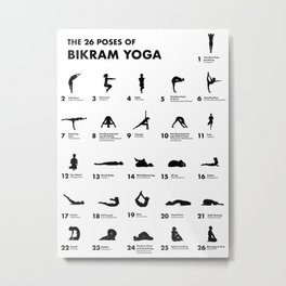 The 26 Poses Of Bikram Yoga Metal Print