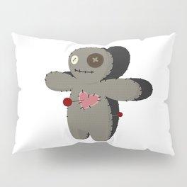 Voodoo doll. Cartoon horror elements. Spooky fear trick or treat Pillow Sham