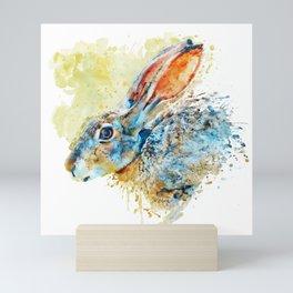 Rabbit Profile Portrait Mini Art Print