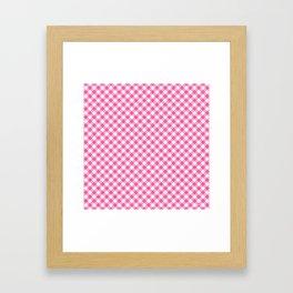 Pink Roses in Anzures 1 Gingham 1 Framed Art Print