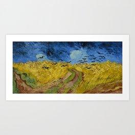 Van Gogh - Wheatfield with Crows Art Print