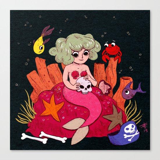 Mermaids Love Humans Canvas Print