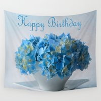 hydrangea Wall Tapestries featuring Hydrangea by Fine Art by Rina