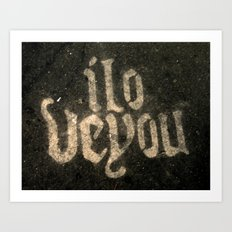 iloveyou Art Print