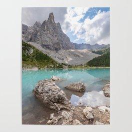 Sorapis lake - Italy Poster