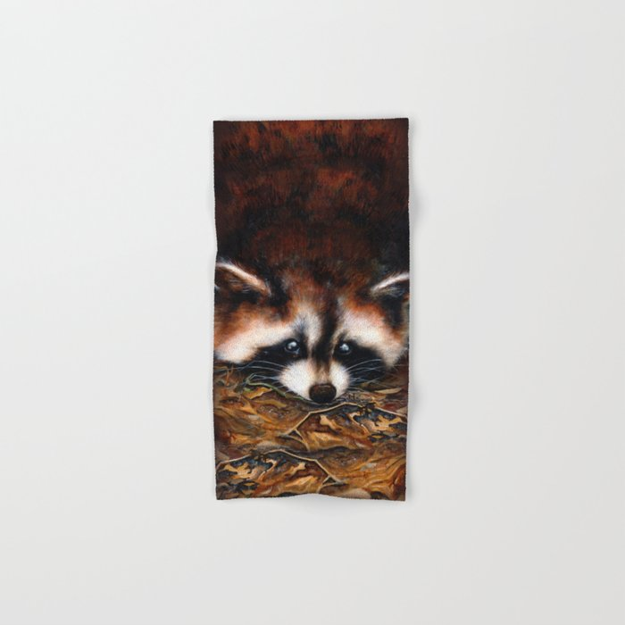 Raccoon Hand & Bath Towel