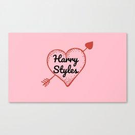 HARRY STYLES LOVE HEART Canvas Print