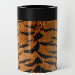 Faux Siberian Tiger Skin Design Can Cooler
