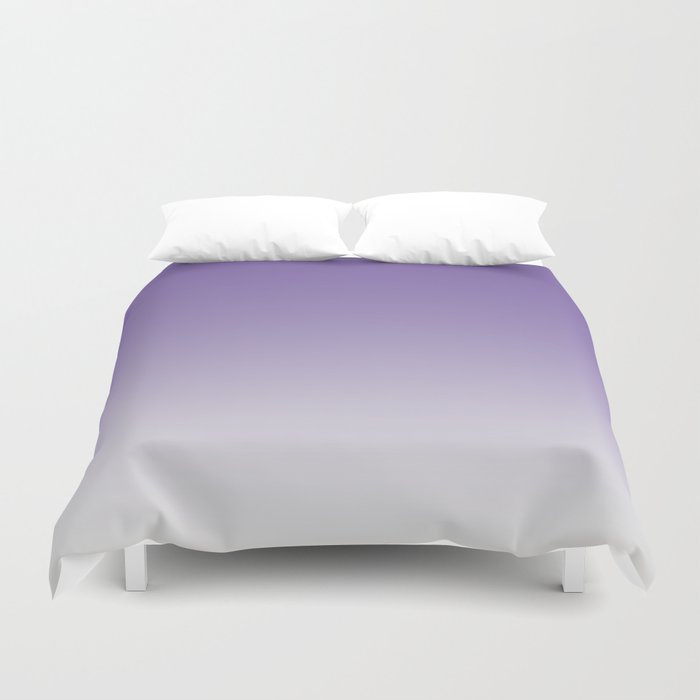 Lavender to White Duvet Cover