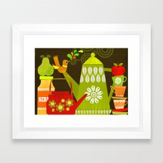 retro kitchen Framed Art Print