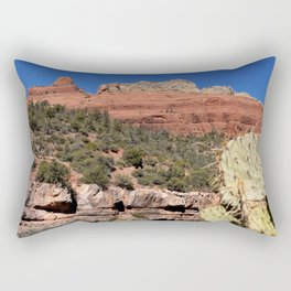 The Face of the Desert Rectangular Pillow