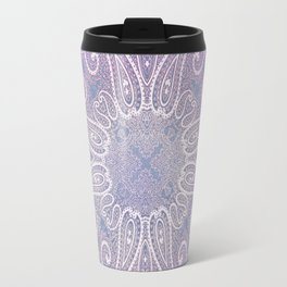 paisley wheel play in light purple Travel Mug