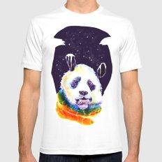 Panda Technicolor White MEDIUM Mens Fitted Tee