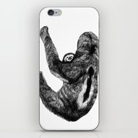 sloths iPhone & iPod Skins featuring Family of  three-toed sloths by Sega-l
