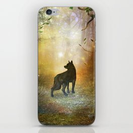 The lonely wolf iPhone Skin