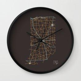 Indiana Highways Wall Clock