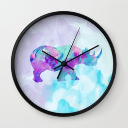 Abstract Rhino B Wall Clock