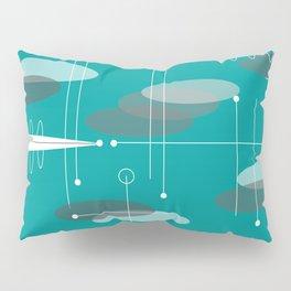 Mid-Century Modern Ovals Teal Pillow Sham