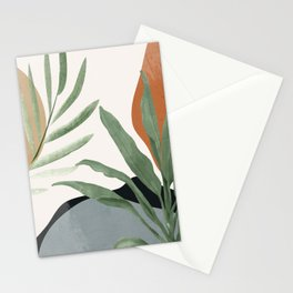 Abstract Art Tropical Leaves 10 Stationery Cards