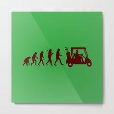 Evolution - golf Metal Print