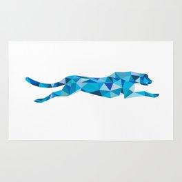Cheetah Running Side Low Polygon Rug