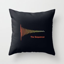 The sequencer, TR 808 drum machine   Electronic djs and producers gift Throw Pillow