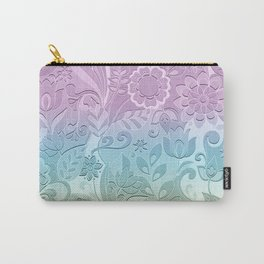 Floral Stencil Carry-All Pouch