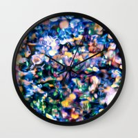 sparkle Wall Clocks featuring Sparkle by Stephen Linhart