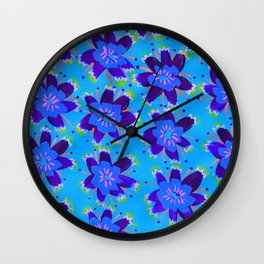 Blueberry Hill Rose Wall Clock