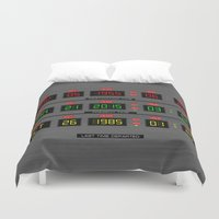 back to the future Duvet Covers featuring BACK TO THE FUTURE by MiliarderBrown