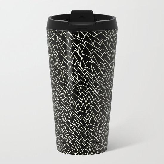 BW pattern 20 Metal Travel Mug