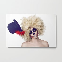 Keep you hat on Metal Print