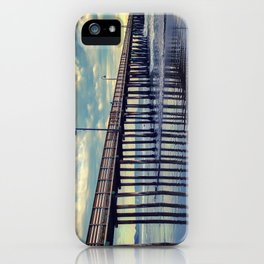 Just Wandering along the beach at Cayucos Pier iPhone Case