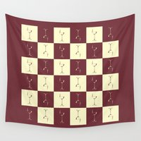 wine Wall Tapestries featuring WINE PICNIC by Sandhill