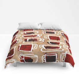 morning pattern Comforters