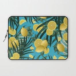 Summer Lemon Twist Jungle #4 #tropical #decor #art #society6 Laptop Sleeve