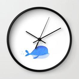 Cute Blue whale Wall Clock