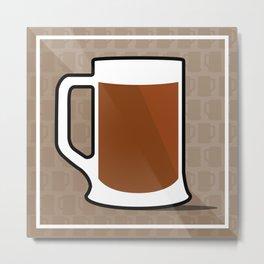 Iconic Beer Mug Metal Print
