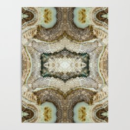 Abstract Kaleidoscope Mineral Crystal Texture Poster