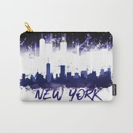 Graphic Art NYC Skyline Splashes | purple Carry-All Pouch
