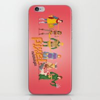 dungeons and dragons iPhone & iPod Skins featuring Dungeons and Dragons - Pixel Nostalgia by Boo! Studio