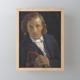 William Holman Hunt - FG Stephens Framed Mini Art Print