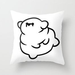 Chubby Doggo Throw Pillow