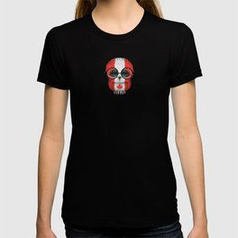 Baby Owl with Glasses and Canadian Flag T-shirt