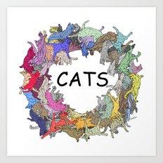 CATs Color Wheel Art Print