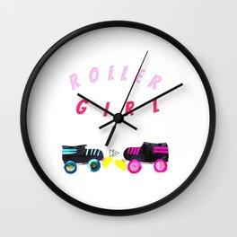Roller Girl, Roller Derby Wall Clock