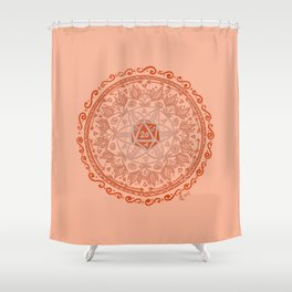 d20 Mandala Shower Curtain