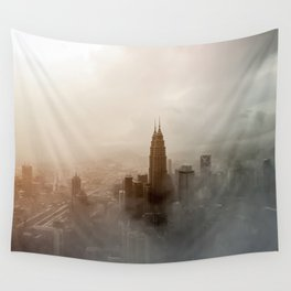 Foggy City Wall Tapestry