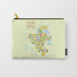 Illustrated Grand Rapids Map Carry-All Pouch